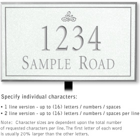 Salsbury 1411WSIL Signature Series Address Plaque