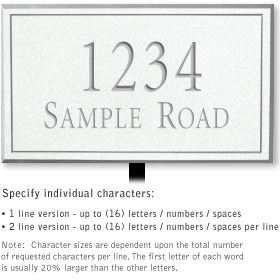 Salsbury 1411WSNL Signature Series Address Plaque