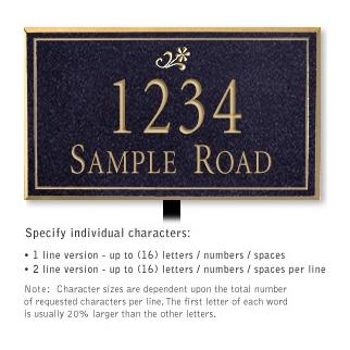 Salsbury 1410BGDL Signature Series Address Plaque
