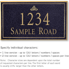 Salsbury 1410BGIS Signature Series Address Plaque