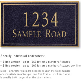 Salsbury 1410BGNS Signature Series Address Plaque
