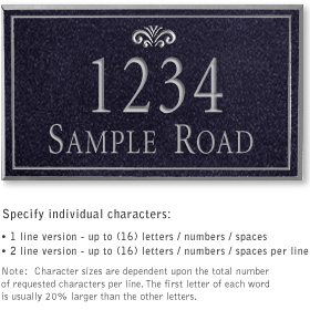 Salsbury 1410BSFS Signature Series Address Plaque
