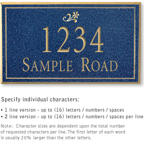 Salsbury 1410CGDS Signature Series Address Plaque
