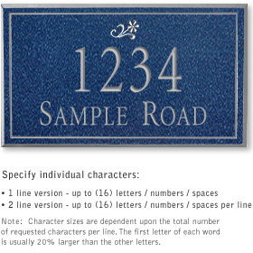 Salsbury 1410CSDS Signature Series Address Plaque