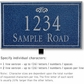 Salsbury 1410CSFL Signature Series Address Plaque