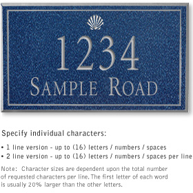 Salsbury 1410CSSS Signature Series Address Plaque