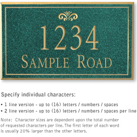 Salsbury 1410JGFS Signature Series Address Plaque