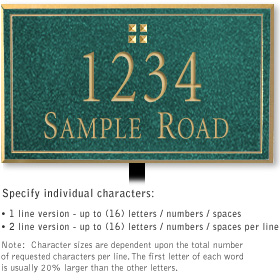 Salsbury 1410JGGL Signature Series Address Plaque