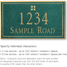 Salsbury 1410JGGS Signature Series Address Plaque