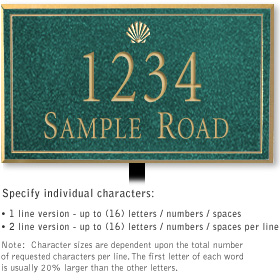 Salsbury 1410JGSL Signature Series Address Plaque