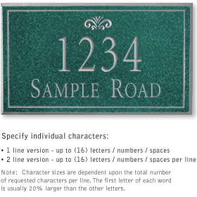 Salsbury 1410JSFS Signature Series Address Plaque