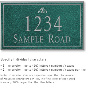 Salsbury 1410JSIS Signature Series Address Plaque