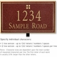 Salsbury 1410MGGL Signature Series Address Plaque