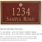 Salsbury 1410MGSS Signature Series Address Plaque