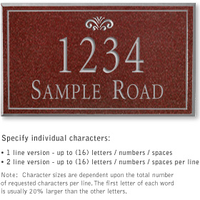 Salsbury 1410MSFS Signature Series Address Plaque
