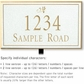 Salsbury 1410WGDL Signature Series Address Plaque