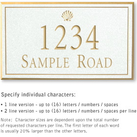 Salsbury 1410WGSS Signature Series Address Plaque