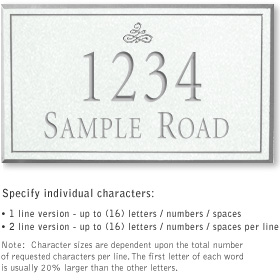 Salsbury 1410WSIS Signature Series Address Plaque
