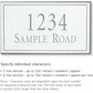 Salsbury 1410WSNS Signature Series Address Plaque