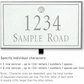 Salsbury 1410WSSL Signature Series Address Plaque
