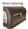 Silver Vinyl Lettering for Mailbox Sides/One Side up to 20 characters