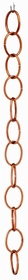 "Single Link Rain Chain - Polished Copper - 72""L X 2.5""W"