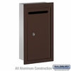 Salsbury 2265ZP Slim Letter Box - Recessed Mounted - Bronze - Private Access