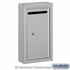 Salsbury 2260AP Slim Letter Box - Surface Mounted - Aluminum - Private Access