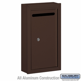 Salsbury 2260ZP Slim Letter Box - Surface Mounted - Bronze - Private Access