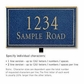 Salsbury 1410CGNL Signature Series Address Plaque