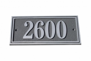 Small Double Border Plaque - Aluminum