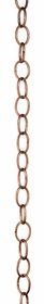 "Small Single Link Rain Chain - Polished Copper - 72""L X 1.75""W"