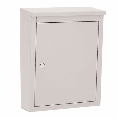 Soho Locking Mailbox in Pearl Gray