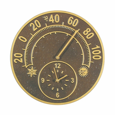 Whitehall Solstice Thermometer Clock Combo