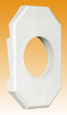 Round Outlet Box Lite Block - Double Fits 5/8-Inch Lap 4 inch Siding (6-pack)