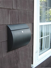 Spira Unique Wall Mount Mailbox - Black
