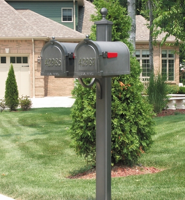 SPK-700-DBL - Main Street Double Mailbox Post (Mailboxes Purchases Separately)
