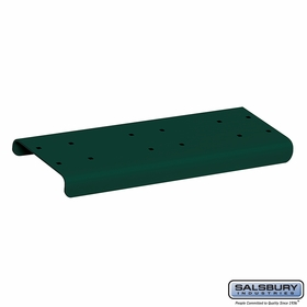 Salsbury 4882GRN Spreader 2 Wide For Rural Mailbox Green