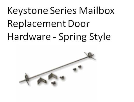 Spring Style Door Hardware Kit for Gaines Mailbox  sc 1 st  Budget Mailboxes & Gaines Mailboxes | Spring Style Door Hardware Kit for Gaines Mailbox ...