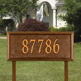 Springfield Rectangle - Estate Lawn Address Sign - One Line