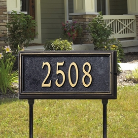 Springfield Rectangle - Standard Lawn Address Sign - One Line