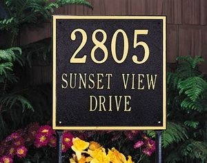 Square Estate Two Line Lawn Address Sign