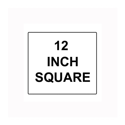 Square Sign Reflective Faceplate 12""