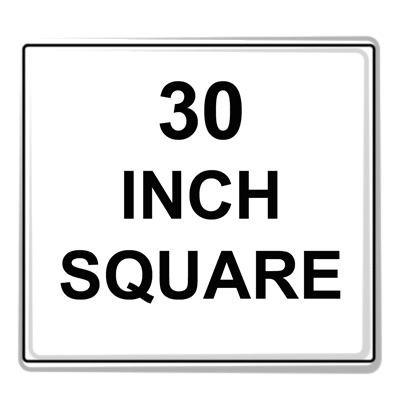 Square Sign Reflective Faceplate 30""