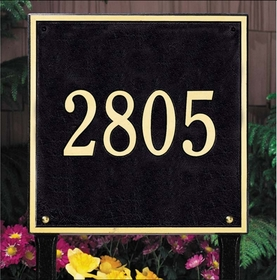 Square Standard One Line Lawn Address Sign