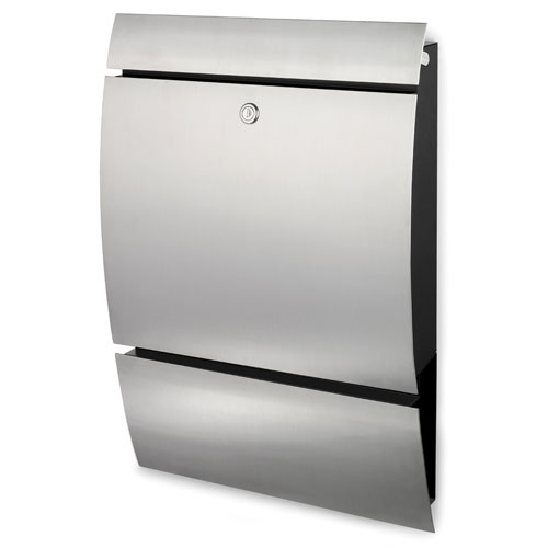 Stainless Steel Extra Wide Wall Mounted Modern Mailbox With Lock