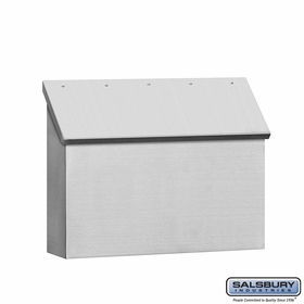 Stainless Steel Mailboxes - Wall Mounted