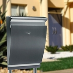 Stainless Steel Modern, Contemporary Arcturus Galaxy Mailbox