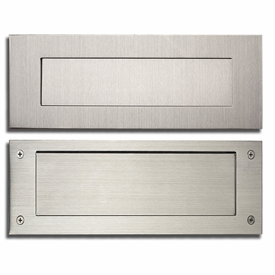 Stainless Steel Modern Contemporary Door Mail Slot 13 in. x 4 in. (