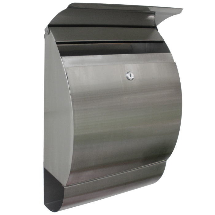 Stainless steel modern contemporary jensen mailbox